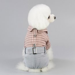 $enCountryForm.capitalKeyWord Australia - Pet clothe Stripe Clothing Small Dog Cat Clothes for cheap Four-legged pants Skirt Apparel Costume cute dog clothes Supplies xl dresses