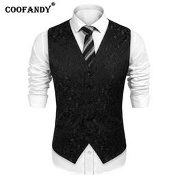 Men forMal suits belts online shopping - Men Suits Pockets Jacquard Match Tuxedo Button Fake Pockets Belt Buckle Formal All season Vest Waistcoat