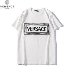 Großhandel Design-T-Shirts der gestreiften Männer der Welle gestreiften Druck-Streetwear Paris-Liebhaber-Sommer-Rundhalsausschnitt-T-Shirts Marke-Jugend-Kurzarm-T-Shirts