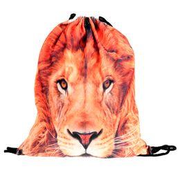 Cloth Bouquet Australia - ISHOWTIENDA Travel Backpack Bag Cloth Bags Drawstring Women's Bags 3D Digital Print Bouquet Pocket Backpack Bag Outdoor #WL