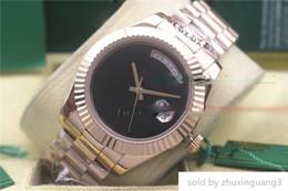 $enCountryForm.capitalKeyWord Australia - Luxury watch Automatic 36mm Day Date Big Black Face Mechanics Men Watches Sapphire Original Box Stainless Steel Clasp Watches..