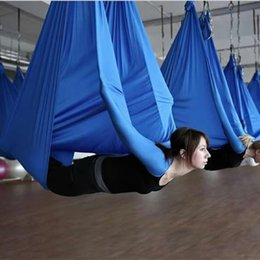 swing equipment NZ - XC Top Quality Anti-gravity Aerial Yoga Hammock 5x2.8M Swing Yoga Bed for Build Body Belts Workout Fitness Equipment