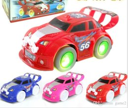 toy s wholesale NZ - Cool car racing toys wholesale four - wheeled lights light - emitting music children 's electric toy car wholesale