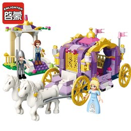 $enCountryForm.capitalKeyWord Australia - Enlighten 2605 Girls Friend Princess Violet Royal Carriage Building Blocks Model Bricks Toys Gift For Children