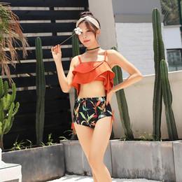 $enCountryForm.capitalKeyWord NZ - 2019 new hot spring swimsuit female split swimsuit two-piece Korean fashion high waist slim sexy bikini