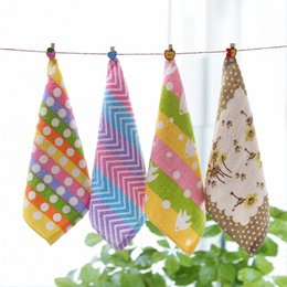 Printed Towels For Kids NZ - Baby Towels Washcloths Natural Cotton Kids Newborn Baby Wipes Hand Towel Washcloth for Sensitive Skin Small Square Washcloths