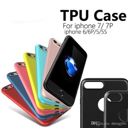 Iphone Silicone Case Dhl Australia - 50PCS Lot For iphone 7 6S Plus Soft TPU Matte Case Ultra Thin Candy Color Gel Silicone Cover For iphone 6 7Plus Free DHL