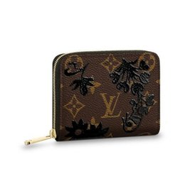 Framed coin purse online shopping - Coin Zippy Purse M62547 New Women Fashion Shows Exotic Leather Bags Iconic Bags Clutches Evening Chain Wallets Purse