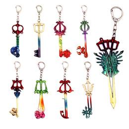 Weapons Cosplay Australia - Game Kingdom Hearts Keychain Men Metal Model Knife Colorful Weapon Key Chain Car Women Cosplay Jewelry Bag Pendant 2019
