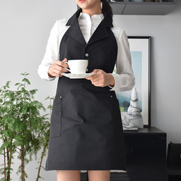 uniforms work clothing NZ - New Hairdresser Stylist Vest Barber Smock Beauty Salon Aprons For Women Pet Groomers SPA Salon Uniforms Protective Work Clothes Y200103