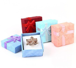 $enCountryForm.capitalKeyWord Australia - NEW High Quality Jewelry Storage Paper Box Multi colors Ring Stud Earring Packaging Gift Box For Jewelry 4*4*3 cm 120pcs lot