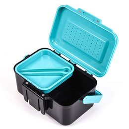 $enCountryForm.capitalKeyWord UK - Tackle Accessories With Clip Earthworm Worm Fish Bait Box Live Lure Handle Hanging Small Outdoor Tool Container Storage Carrying