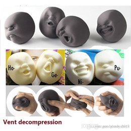 spinner vent NZ - Wholesale Caomaru Vent Human Face Ball Anti-stress Ball of Japanese Design Caomaru brown Adult Kids Funny fidget spinner Toy Gift M0386