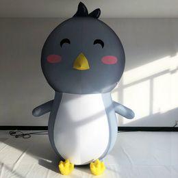 Personalizado decorativo de 5 metros de altura gigante inflable pingüino impresión digital explotar reproducciones de pingüino de pie para juguetes de visualización