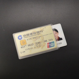 $enCountryForm.capitalKeyWord Australia - 2 Cards Bit Pvc Bank Card Holder Transparent Credit Id Card Cover Soft Plastic Case To Protect Credit Cards Cardholder