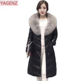 $enCountryForm.capitalKeyWord Australia - YAGENZ New Winter Women Leather Cotton Clothing Jacket Large Size Womens Clothing Long Section Fur Collar Keep Warm Fur Coat 502