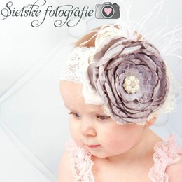 $enCountryForm.capitalKeyWord NZ - Lace baby headbands feather kids headband large flower newborn designer headband designer headbands hair accessories girls head bands