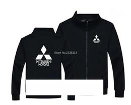 Jacket Shops Australia - Winter custom 4S shop maintenance car work clothes Mitsubishi sweatshirt male and female stand collar zipper coat jacket