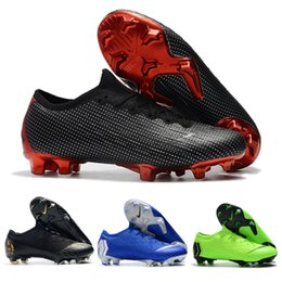 bb3defc42 Original brand Mercurials XII Elite FG cr7 soccer shoes fashion football  boots sneakers for men black red green pink blue