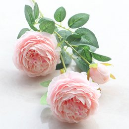 Wholesale Fake Flowers For Sale Australia - Hot Sale European Style Fake Artificial Rose Peony Peonies Silk Decorative Party Flowers For Home Hotel Wedding Office Garden Decor