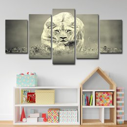 $enCountryForm.capitalKeyWord Australia - HD Printed Lion king Painting 5 Piece Canvas Art Room Decoration Print Poster Picture Canvas Free Shipping