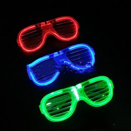 Glow Glasses Party Supplies Australia - Led Rave Toy Light up Kids Christmas Party Glowing Glass for Rave Costume Party Decoration Supplies