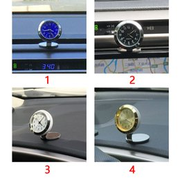 digital dashboard cars Canada - Hygrometer Charms Digital Dashboard Interior Ornaments Car Temperature Clock Accessories Watch