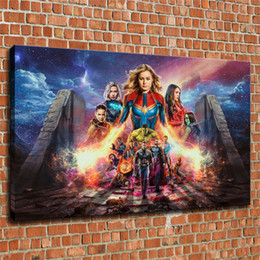 marvel canvas prints NZ - Marvel Thanos Iron Man - The Avengers Endgame Movie -1,1 Pieces Canvas Prints Wall Art Oil Painting Home Decor (Unframed Framed) 24X36.