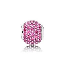 $enCountryForm.capitalKeyWord Australia - NEW 100% 925 Sterling Silver 1:1 796066PCZ Pink Zircon Pave CHARM Original Vintage Boutique Jewelry Anniversary Gift