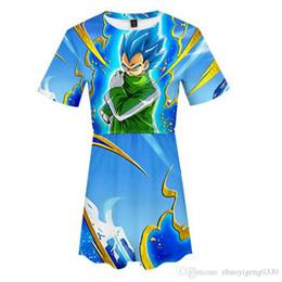 $enCountryForm.capitalKeyWord Australia - Dragon Ball Super Broly 3D Printed Dress for Women Summer Short Sleeve Casual Dresses Hot Sale Popular Streetwear Clothes