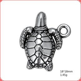 $enCountryForm.capitalKeyWord Australia - 30pcs Antique vintage tibetan silver turtle turtoise charms nautical dangle alloy pendants for necklace bracelet earring diy jewelry making