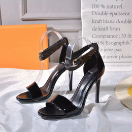 Inch Ankle Strap High Heels Online Shopping Luxury Black Heart Sandal A4mot Patent Calf Leather