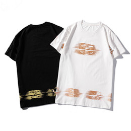 $enCountryForm.capitalKeyWord NZ - Summer Top Design T-Shirts for Men and Women Cotton Tee Casual Gold Stripe Printing Polo Shirts Short Sleeve Tees