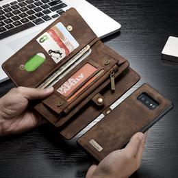 $enCountryForm.capitalKeyWord Australia - For Funda Samsung Galaxy A50 Case Zipper Wallet Folio Magnetic Cover Genuine Leather Case For Galaxy S10 Plus S10 E S9 Plus S8 J190629