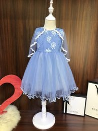 Fashion Trends Lace Dress Australia - Children suits clothing latest summer fashion trend refreshing casual ultra-thin stripe breathable brand girls lace skirt dress clothes