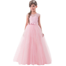 big teenager clothes UK - Lace Princess Dresses Girls Clothes Tulle Children's Costume For Kids Prom Gown Designs Big Girl Teenagers Evening Dresss J190611