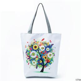 $enCountryForm.capitalKeyWord Australia - good quality Colorful Tree Printed Tote Handbag For Teenage Cartoon Design Canvas Single Shoulder Bag Women Shopping Bag