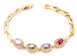 14k Gold Bracelets Australia - Hot sale new Women girl fashion jewelry 18K gold plated copper zircon bible bracelet birthday festival gift