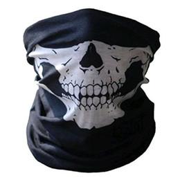 $enCountryForm.capitalKeyWord Australia - Hot sale Unisex Halloween Cosplay Scarves and Wraps Bicycle Ski Skull Half Face Mask Ghost Scarf Bandanas