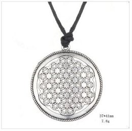 Wholesale Mandala Pendant NZ - B13 Myth Love Knot Flower of Life pendant eyptian Style Mandala Amulet Necklace For Men and Women