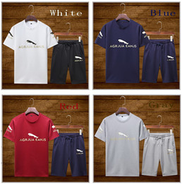 Sıcak 2019 Yaz Yeni erkek kısa kollu şort eğilim kısa kollu Tişört erkek rahat spor takım elbise Voleybol Setleri erkek Eşofman