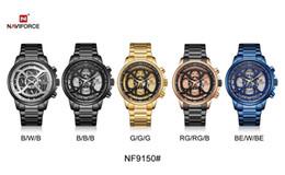 $enCountryForm.capitalKeyWord Australia - NAVIFORCE 9150 Men Watch Male Leather Automatic date Quartz Watches 30M Waterproof Sport Clock Relogio Masculino Brown New DHL