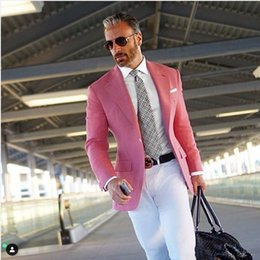 Large Lapel Suits Australia - he latest design Slim fit men's large lapel suit jacket custom groomsman wedding dress 2 casual men's clothing (jacket + pants)