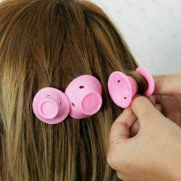 $enCountryForm.capitalKeyWord Australia - Soft Rubber Magic Hair Care Rollers Silicone Hair Curler No Heat No Clip Hair Curling Styling DIY Tool