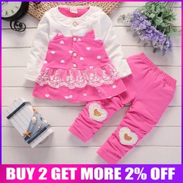 Discount winter clothes for little girls - Bibicola 2018 Spring Autumn Baby Girl Clothing Sets Kids Girls Tops Pants Clothes Suit For Little Girl Cotton Infant Sui