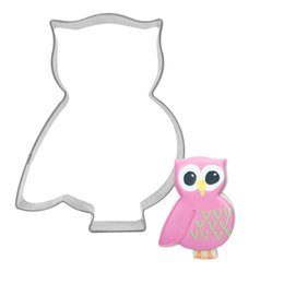 cake press mold NZ - Owl Shape Cookie Egg Tools Cutter Pancake Mould Biscuit Press Stamp Mold Stainless Steel Cake Decorating