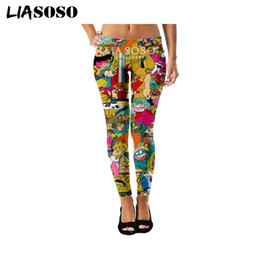 Gray cute fashion pants online shopping - LIASOSO New Sexy Fashion Womens Leggings High Stretch D Print Anime Collection Funny Casual Cute Hip hop Fitness Pants A098
