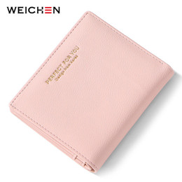 $enCountryForm.capitalKeyWord Australia - WEICHEN Thin Women Wallets Zipper Coin Bag in Back Pink Soft Leather Ladies Purse Card Holder Slim Purse Female Small Wallet NEW