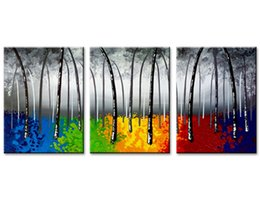 $enCountryForm.capitalKeyWord Australia - 3 Piece Canvas Painting Black and White Colour Tree Picture Print Wall Art for Living Room Bedroom Decor with Wooden Framed Artworks