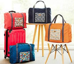$enCountryForm.capitalKeyWord Australia - Popular women folding travel tote luggage bag floral durable polyester tourism organizer storage bag pack 4 colors